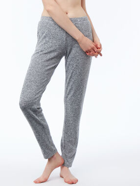 Pantalon homewear chiné gris.