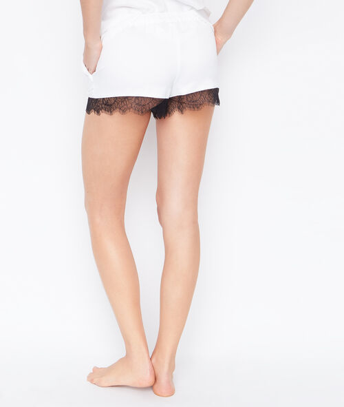 SHORT SATIN DENTELLE