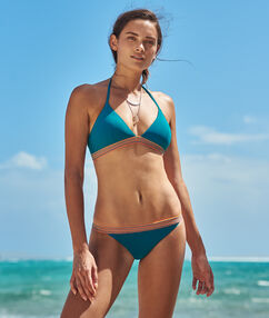 Bikini simple bleu canard.