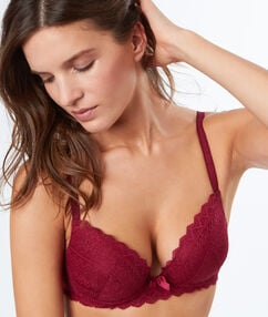 Soutien-gorge n°1 - magic up cassis.