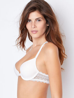 Soutien-gorge n°1 - magic up, dos nageur ecru.