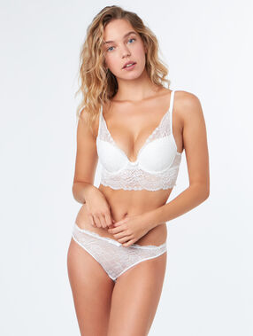 Soutien-gorge n°3 - triangle push up ecru.