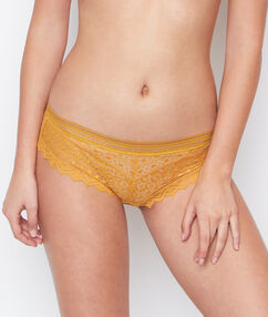 Shorty dentelle ocre.