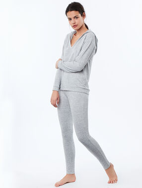 Sweat chiné homewear gris.