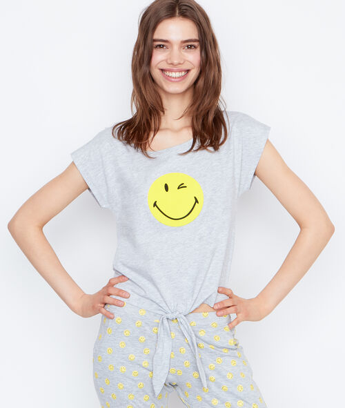 T-shirt imprimé smiley