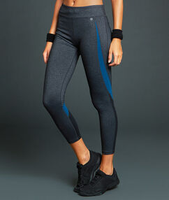 Pantalon de sport 7/8 ultra stretch gris.