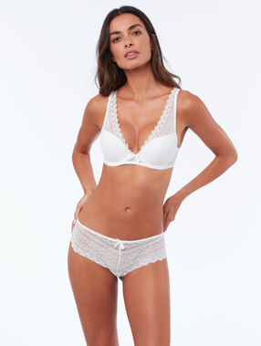Soutien-gorge n°3 - triangle push up blanc.