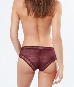 Shorty en tulle bordeaux grenat.