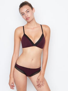 Triangle sans armatures coton bordeaux grenat.