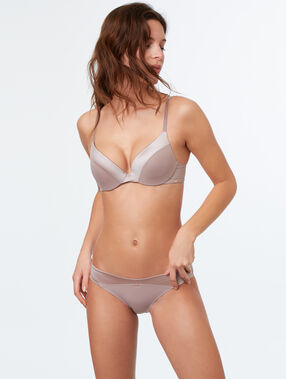 Culotte micro douceur taupe.