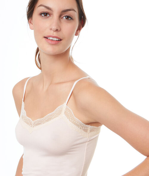 Top viscose dentelle