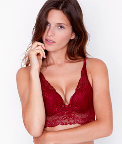 Soutien-gorge n°3 - triangle push up bordeaux grenat.