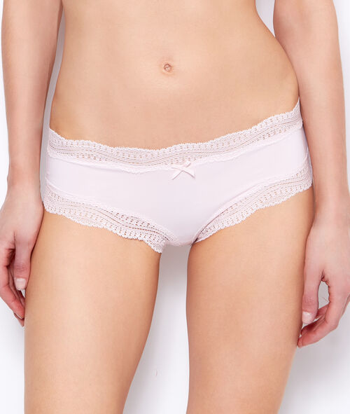Shorty bords dentelle graphique