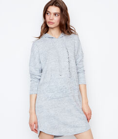 Robe sweat gris.