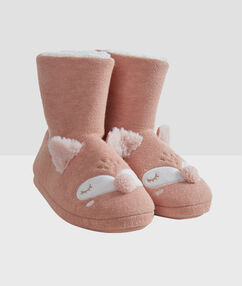 Chaussons bottines 3d rose.