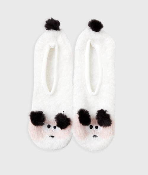 Chaussons animaliers avec pompons