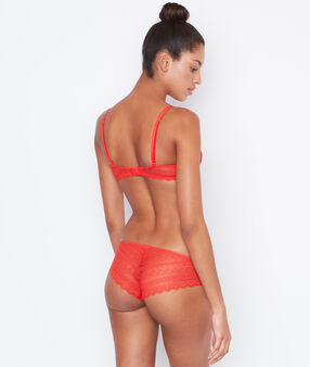 Shorty dentelle orange.