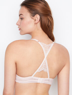 Soutien-gorge push up racer back blush.