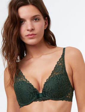 Soutien-gorge n°3 - triangle push up vert.