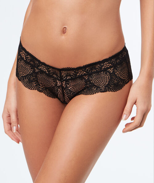 Shorty-tanga en dentelle