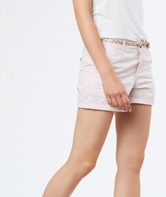 Short en cotton nude.