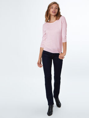 Pull col rond nude.