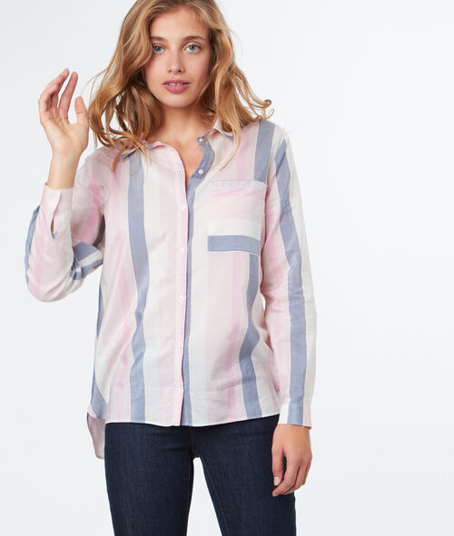 Chemise color block pastel