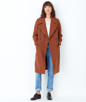 Manteau caban long camel.