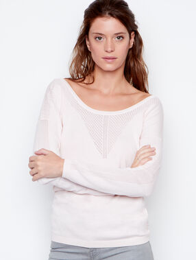 Pull col rond rose.