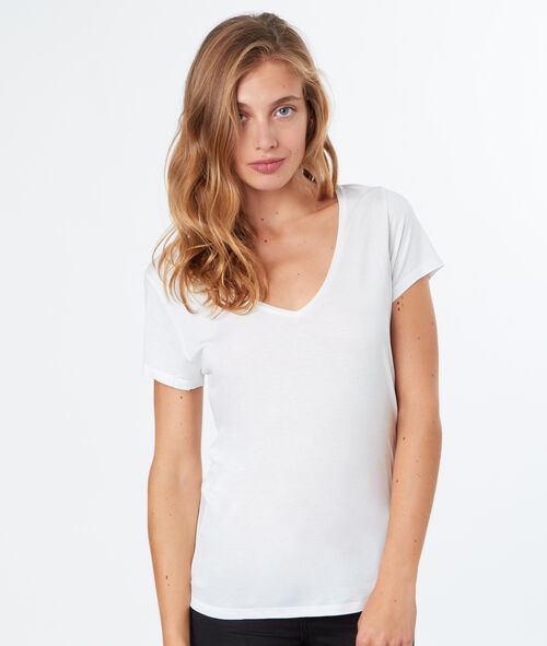 T-shirt simple col V