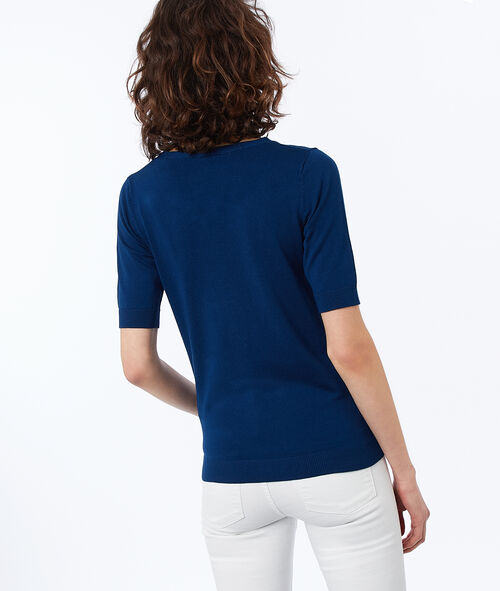 Pull manches courtes col rond