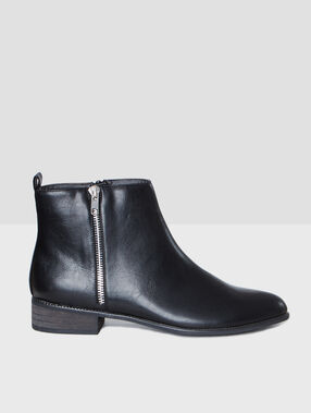 Bottines zippées black.