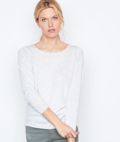 Pull manches longues dos dentelle