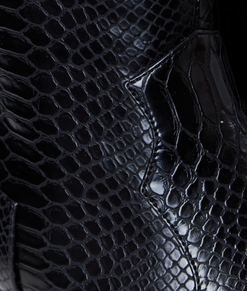 Boots pointues effet croco