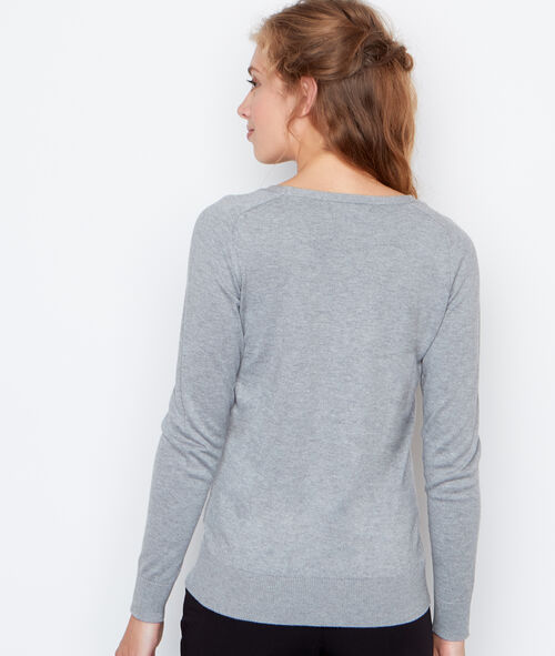Pull manches longues brodé