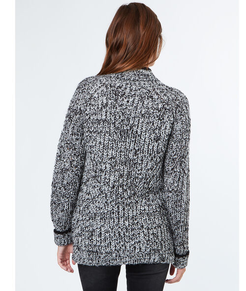 Pull tricot col montant