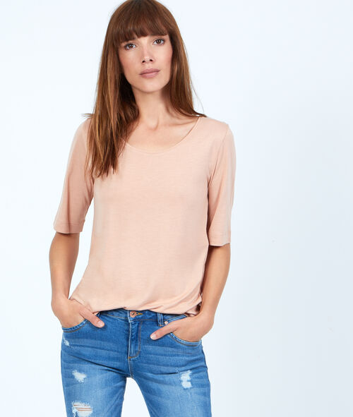 T-shirt manches 3/4 en viscose