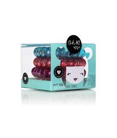 Lot de 4 élastiques colorés pour les cheveux