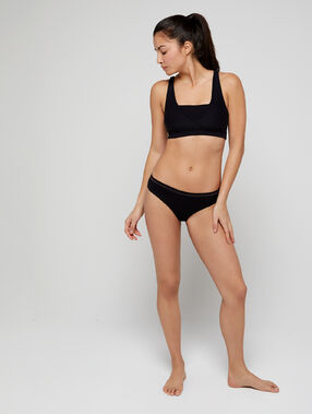 Culotte seamless, coutures invisibles noir.