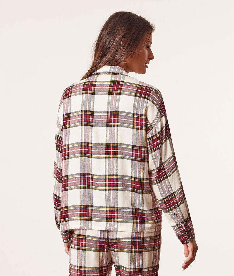 Chemise pyjama à carreaux;${refinementColor}