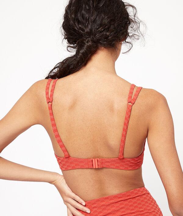 Haut de maillot de bain triangle, texturé