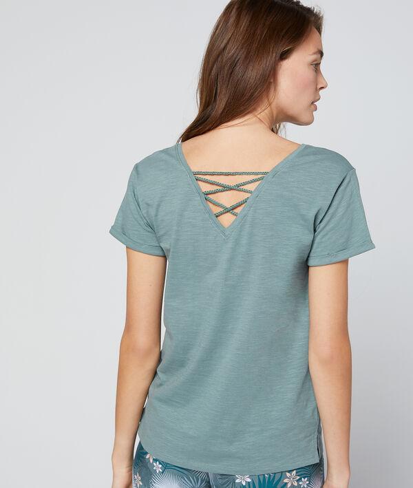 T-shirt imprimé ananas en coton bio