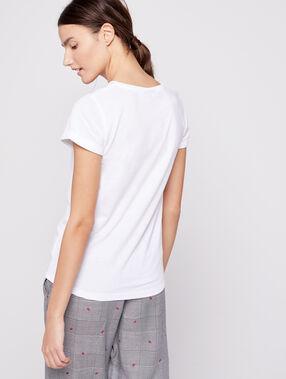 "T-shirt ""love"" snoopy ecru."