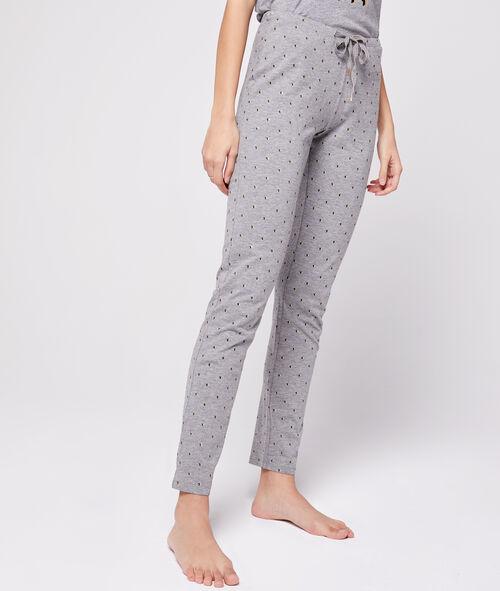 Pantalon noué à motifs étoiles