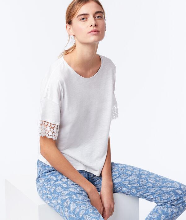 T-shirt manches dentelle