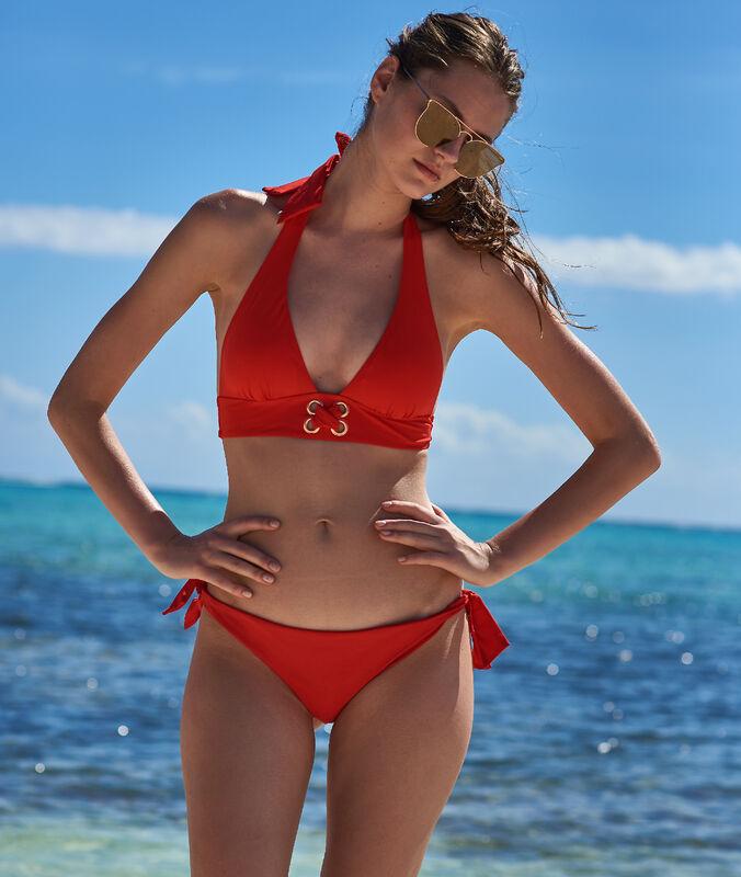 Bas de bikini brésilien - high leg rouge.