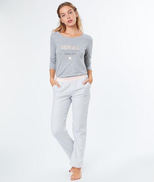 Pantalon fines rayures