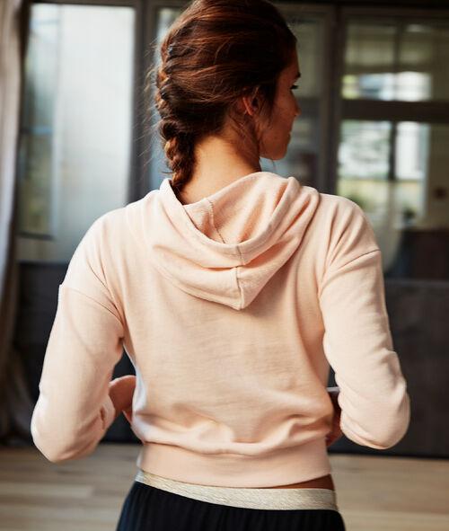 Sweat court à capuche
