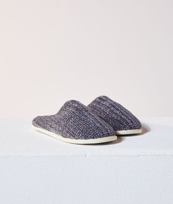 Chaussons mules tricot;${refinementColor}