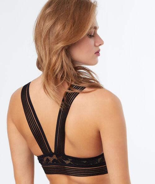 Bralette en dentelle croisé dans le dos